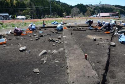 写真4 縄文時代の遺構が出現.JPG